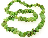 """Charm Nugget Green Turquoise Beads Gemstone One Strand 16"""""""