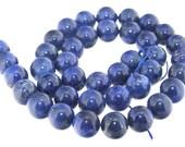 Rond  Blue Lapis Stone Gemstone one Strand 10mm