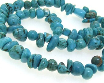 Strand Nugget Turquoise Gemstone Beads 12mm