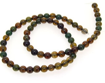 Dragon Agate Round 6mm Gemstone Beads 16inch