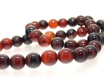 Charm Agate Round 9mm Gemstone Beads One Strand