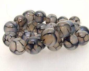 Dragon Agate Round 12mm Gemstone Beads