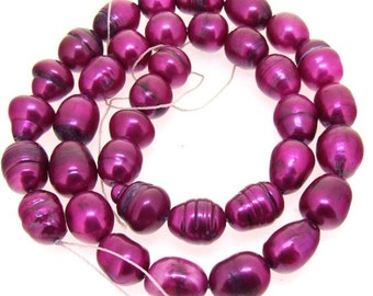 Peach Rice Freshwater pearl Cultured Pearl Baroque Gemstone Beads One Strand
