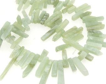 Branch Jade Jasper Gemstone Beads Strand