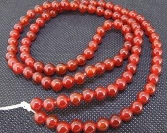 Round Red Agate  6mm Gemstone Beads Strand 22inch