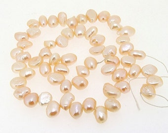 Pink Rice Freshwater Cultured Pearl Gemstone Beads Strand 5-10mm
