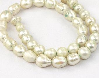 Rice Cultured Pearl Gemstone Beads 9-10mm Strand