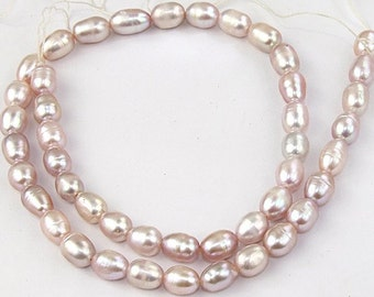 Lavender Rice Freshwater Cultured Pearl Gemstone Beads Strand 5mm