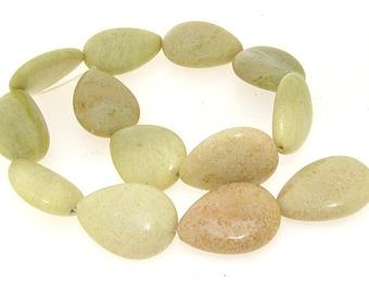 Peach 20mm Yellow Turquoise Gemstone Beads Strand