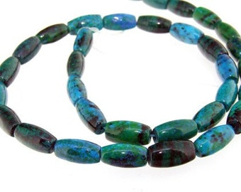 Charm Green Jasper 7-12mm Gemstone Strand