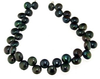 Strand Green Freshwater Cultured Pearl Gemstone Beads 6mm