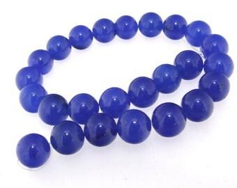 Charm Blue Jade 12mm Gemstone 25Beads Strand
