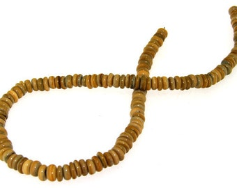 Luster Heishi Shell Mop Coffee Beads 2mmx8mm  Gemstone Beads One Strand  Mother of pearl