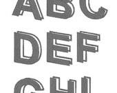 Parallelism Font Machine Embroidery Monogram Set 4x4 Hoop