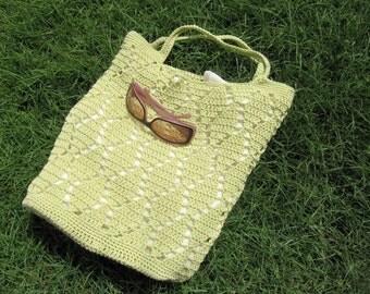 Crochet Market Bag (Queen of Diamonds) Instant Download