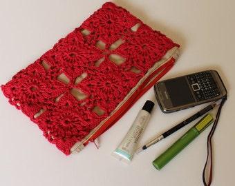 Flower Motif Crochet  Clutch Pattern Instant Download