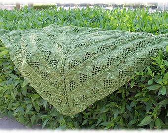 Shabak Shawl Knitting Pattern Instant Download