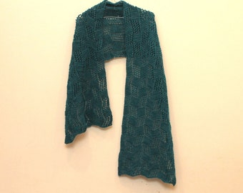 Rhombuses Wrap Knitting Pattern Instant Download