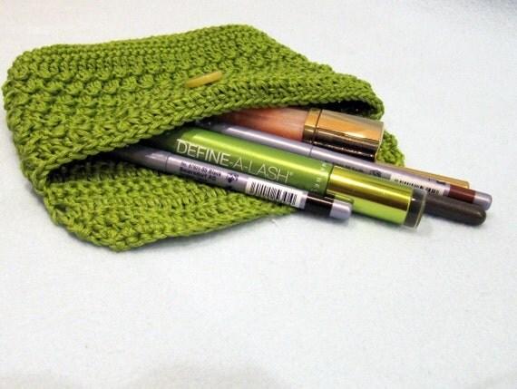 Crochet Makeup Clutch (Afternoon Clutch) Instant download