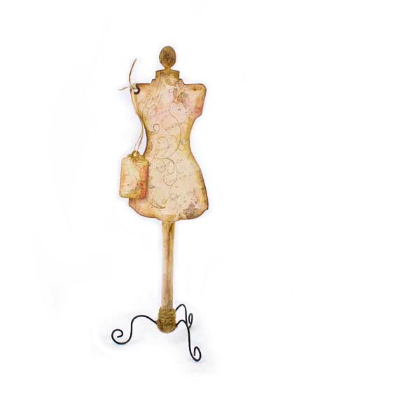 Decorative Vintage Dress Form Free Standing