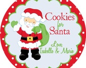 Set of Personalized Melamine Plates - Santa and Rudolph