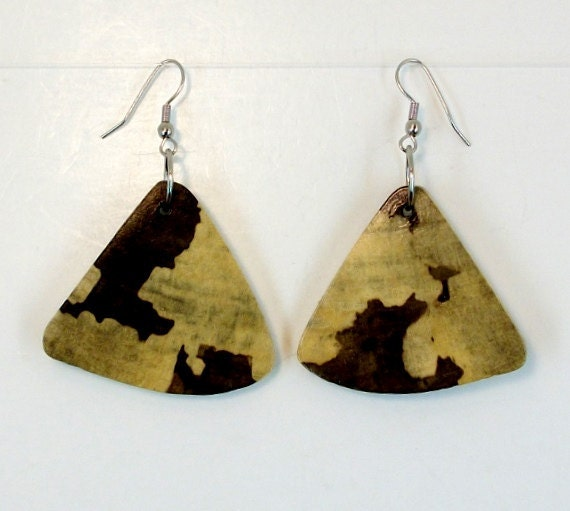 Handcrafted Lightweight Natural Wood Fashion Earrings