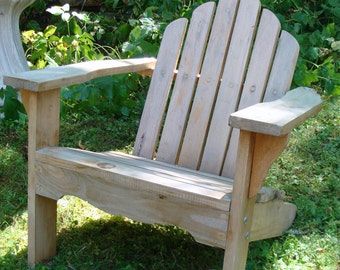 Vintage Child's Cedar Adirondack Chair