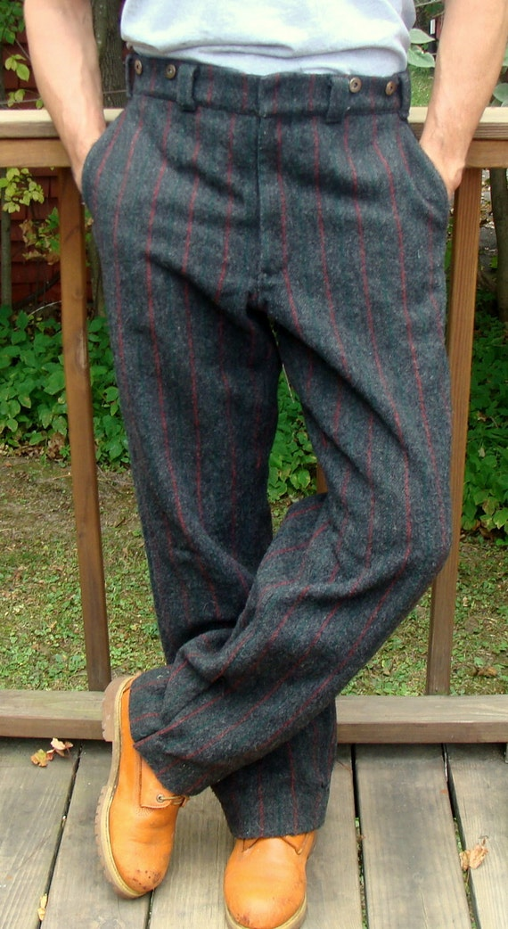 vintage men 39 s ll bean wool malone hunting pants made in. Black Bedroom Furniture Sets. Home Design Ideas