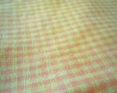 Vintage Orange and Yellow Gingham- 3 plus Yards