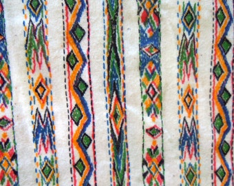Vintage Southwestern Print Cotton Fabric-Over 1 yard