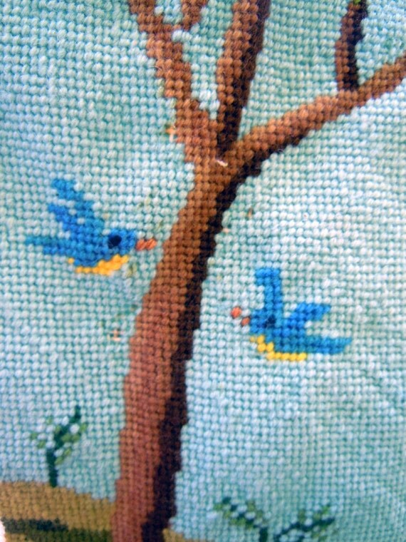 A House... Is Made of Love Alone- Vintage Needle Point