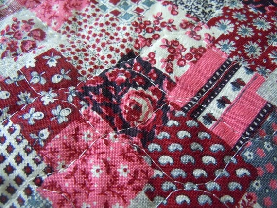 Floral Quilted Vintage Fabric