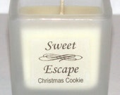 Sweet Escape 1.8oz Christmas Cookie Scented Votive Candle in Square Frosted Glass Container Made with All Natural Soy Wax