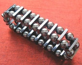 SALE - Hematite Stretch Bracelet - Hematite Jewelry BR-30
