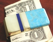 Money Clip, Groomsman Gift for Him, Inlaid Brass Money Clip Wallet, Groomsmen Gift Idea MMC27