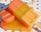 All Natural Glycerin Soap Pop, Citrus-Grapefruit, Mandarin, Strawberry and Lemon, 3.4 oz., FREE SHIPPING by green bubble gorgeous on etsy