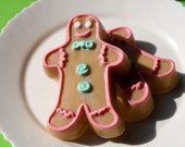 Christmas Soap, Gingerbread Man Natural Vegan Soap, made with essential oils by greenbubblegorgeous on etsy