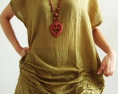 Golden Stair Mustard Gypsy Yellow Cotton Blouse