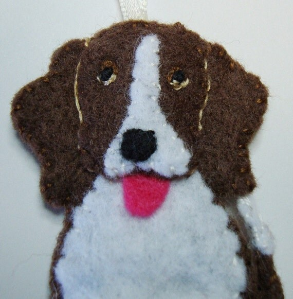 """3"""" Felt Dog Ornament - Free Shipping in the US!"""