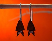 Bat Dangle Sterling Silver Earrings  Mini Zoo series