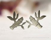BAMBOO Stud Earrings Sterling Silver Mini Zoo series