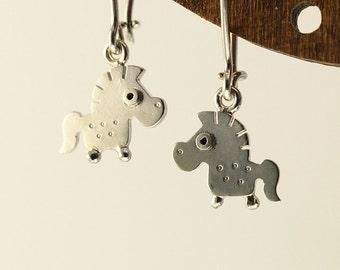 HORSE Dangle Earrings Sterling Silver Mini Zoo series