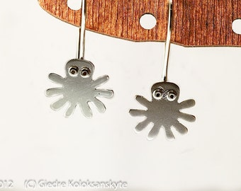 OCTOPUS Silver Hook Earrings Mini Zoo