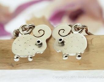LAMB Dangle Earrings Sterling Silver Mini Zoo series