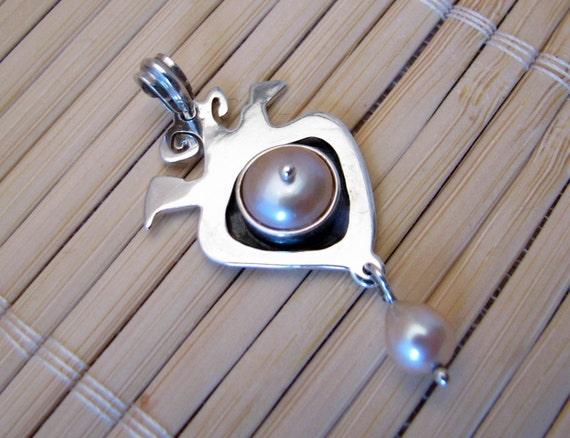Pearl Art Pendant Sterling Silver