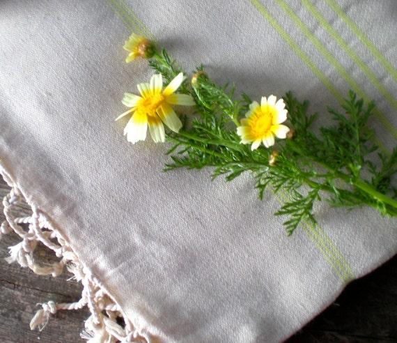sale linen peshtemal, linen towel, turkish towel, mother's day, hamam towel, pareo, beach wedding, light green striped towel