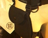 Utility Belt Thigh Bag / Pouch /Great for Burning Man, Passports, Travel, Industrial #SM-UTP-BK