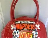 captain spauldings murder ride hand painted handbag
