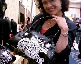 day of the dead  black magic handbag