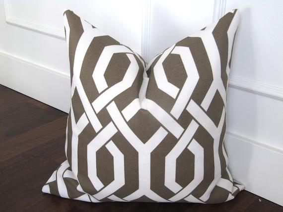 Taupe Lattice 20x20inch decorative pillow cover